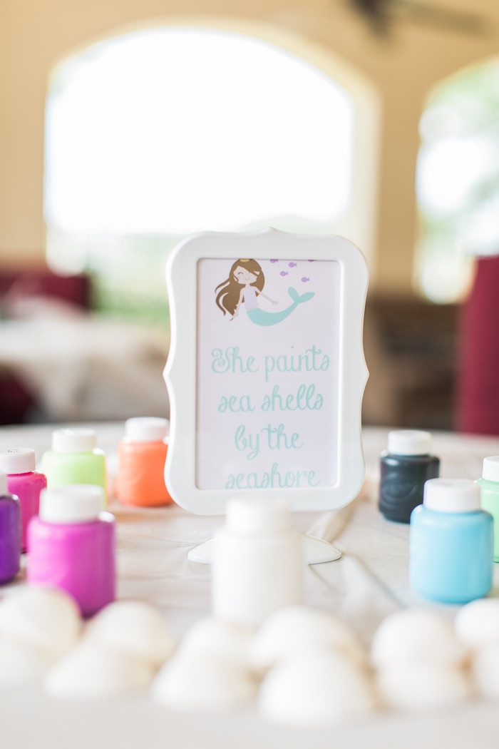 Activity table from a Mermaids & Pirates Birthday Party via Kara's Party Ideas KarasPartyIdeas.com (14)