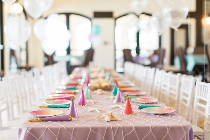 Dining tablescape from a Mermaids & Pirates Birthday Party via Kara's Party Ideas KarasPartyIdeas.com (48)