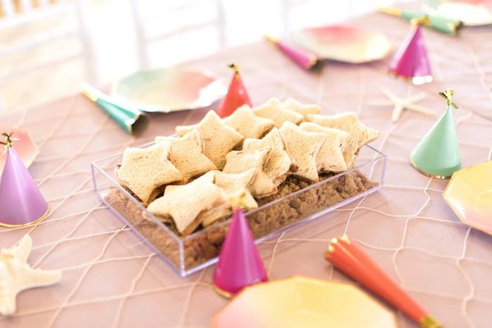 Starfish sandwiches from a Mermaids & Pirates Birthday Party via Kara's Party Ideas KarasPartyIdeas.com (47)