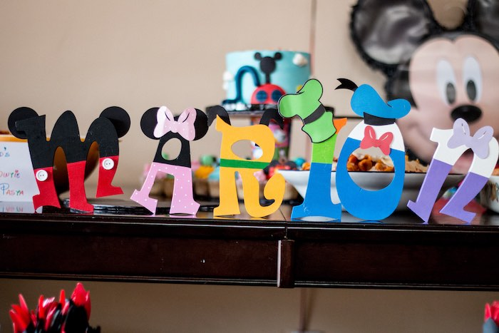 Mickey Mouse Clubhouse character letters from a Mickey Mouse Clubhouse Themed Birthday Party via Kara's Party Ideas KarasPartyIdeas.com (28)