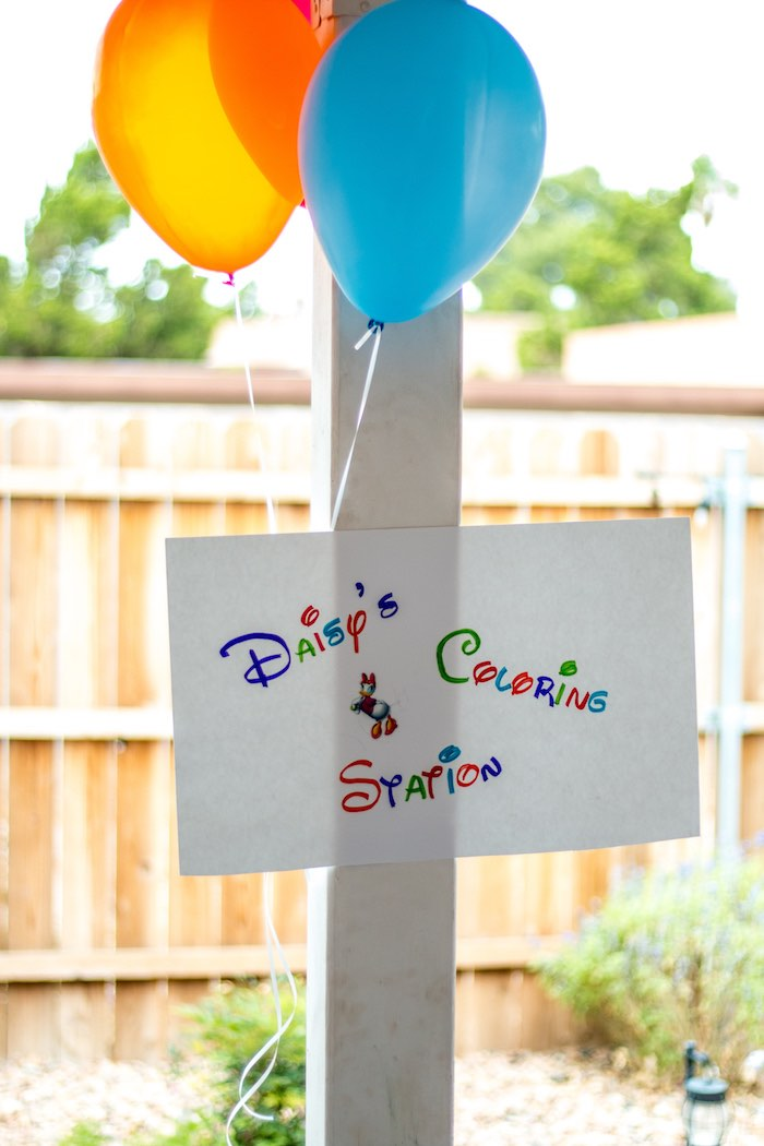Party sign from a Mickey Mouse Clubhouse Themed Birthday Party via Kara's Party Ideas KarasPartyIdeas.com (27)