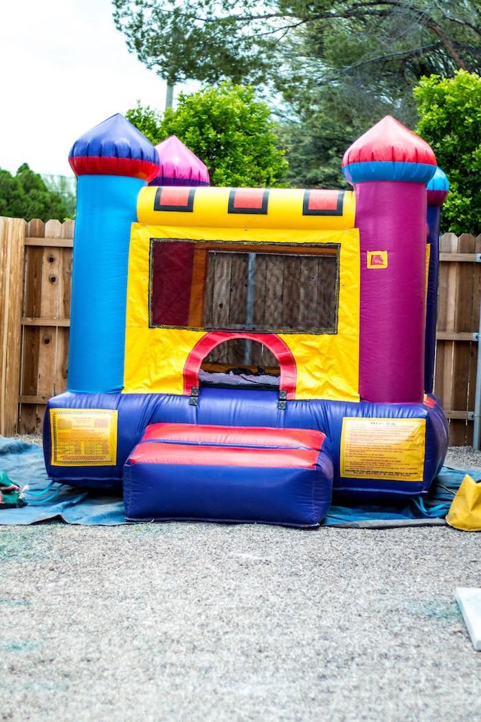 Bounce house from a Mickey Mouse Clubhouse Themed Birthday Party via Kara's Party Ideas KarasPartyIdeas.com (25)