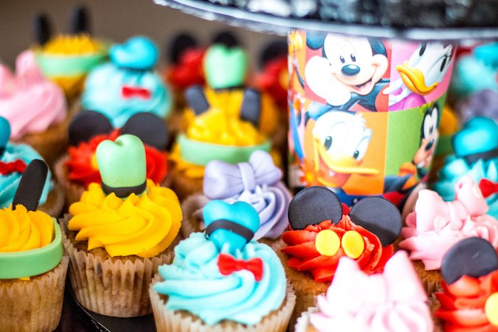 Adorable character cupcakes from a Mickey Mouse Clubhouse Themed Birthday Party via Kara's Party Ideas KarasPartyIdeas.com (19)