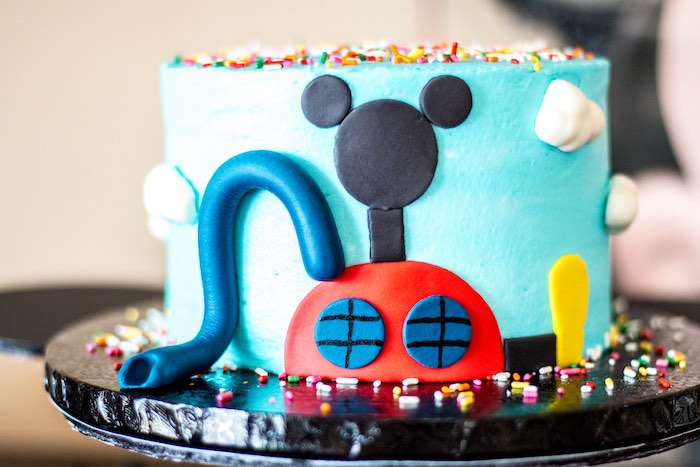Cake from a Mickey Mouse Clubhouse Themed Birthday Party via Kara's Party Ideas KarasPartyIdeas.com (18)