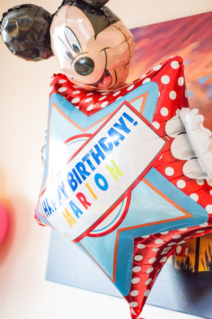 Custom Mickey Mouse mylar balloon from a Mickey Mouse Clubhouse Themed Birthday Party via Kara's Party Ideas KarasPartyIdeas.com (14)