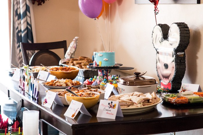 Party table from a Mickey Mouse Clubhouse Themed Birthday Party via Kara's Party Ideas KarasPartyIdeas.com (13)