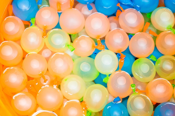 Water balloons from a Mickey Mouse Clubhouse Themed Birthday Party via Kara's Party Ideas KarasPartyIdeas.com (5)
