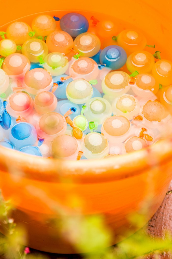 Bucket of water balloons from a Mickey Mouse Clubhouse Themed Birthday Party via Kara's Party Ideas KarasPartyIdeas.com (4)