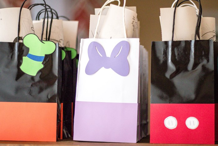 Mickey Mouse Clubhouse character favor bags from a Mickey Mouse Clubhouse Themed Birthday Party via Kara's Party Ideas KarasPartyIdeas.com (36)
