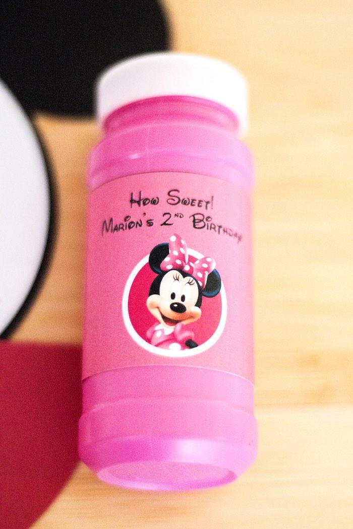 Bubble favor from a Mickey Mouse Clubhouse Themed Birthday Party via Kara's Party Ideas KarasPartyIdeas.com (34)