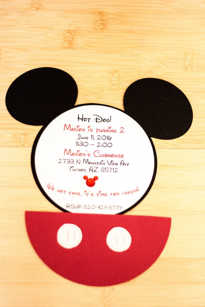 Mickey Mouse Invitation from a Mickey Mouse Clubhouse Themed Birthday Party via Kara's Party Ideas KarasPartyIdeas.com (33)