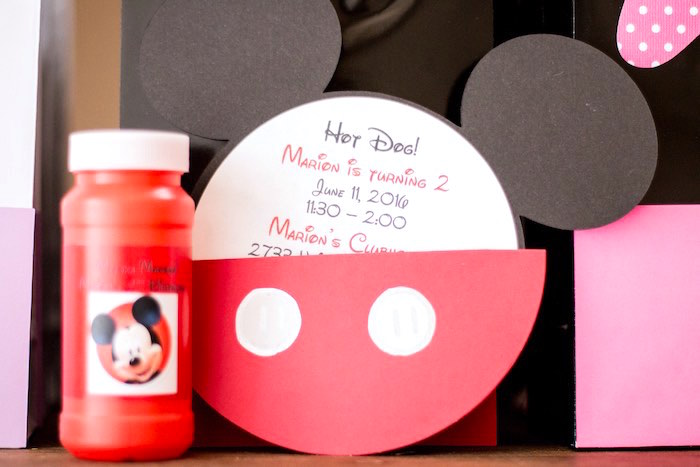 Mickey Mouse Invitation from a Mickey Mouse Clubhouse Themed Birthday Party via Kara's Party Ideas KarasPartyIdeas.com (32)