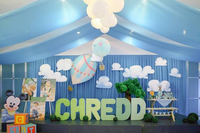 Karas Party Ideas Mickey Mouse Hot Air Balloon Birthday Party