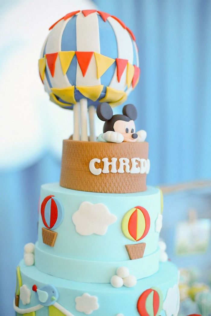 Karas Party Ideas Mickey Mouse Hot Air Balloon Birthday Party