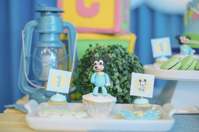 Cupcakes from a Mickey Mouse Hot Air Balloon Birthday Party via Kara's Party Ideas KarasPartyIdeas.com (22)