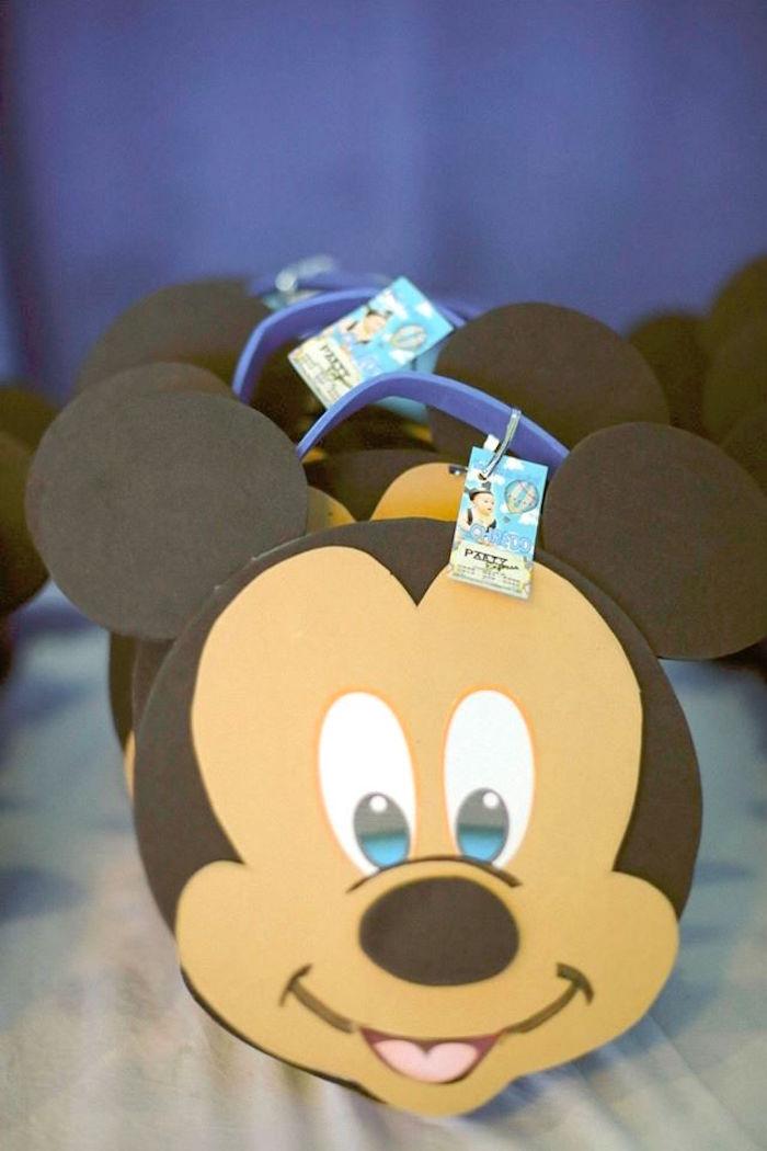 Mickey Mouse favor bags from a Mickey Mouse Hot Air Balloon Birthday Party via Kara's Party Ideas KarasPartyIdeas.com (18)
