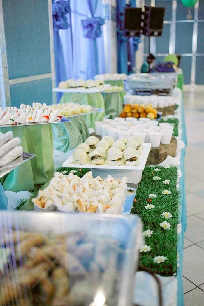 Food table from a Mickey Mouse Hot Air Balloon Birthday Party via Kara's Party Ideas KarasPartyIdeas.com (9)