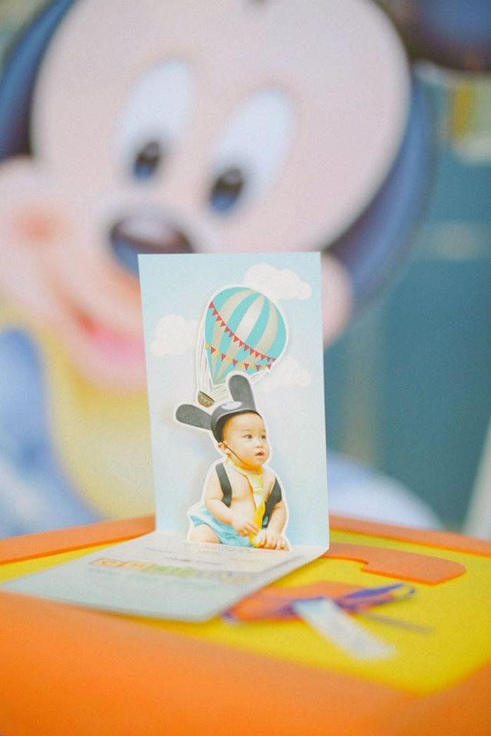 Invitation from a Mickey Mouse Hot Air Balloon Birthday Party via Kara's Party Ideas KarasPartyIdeas.com (7)