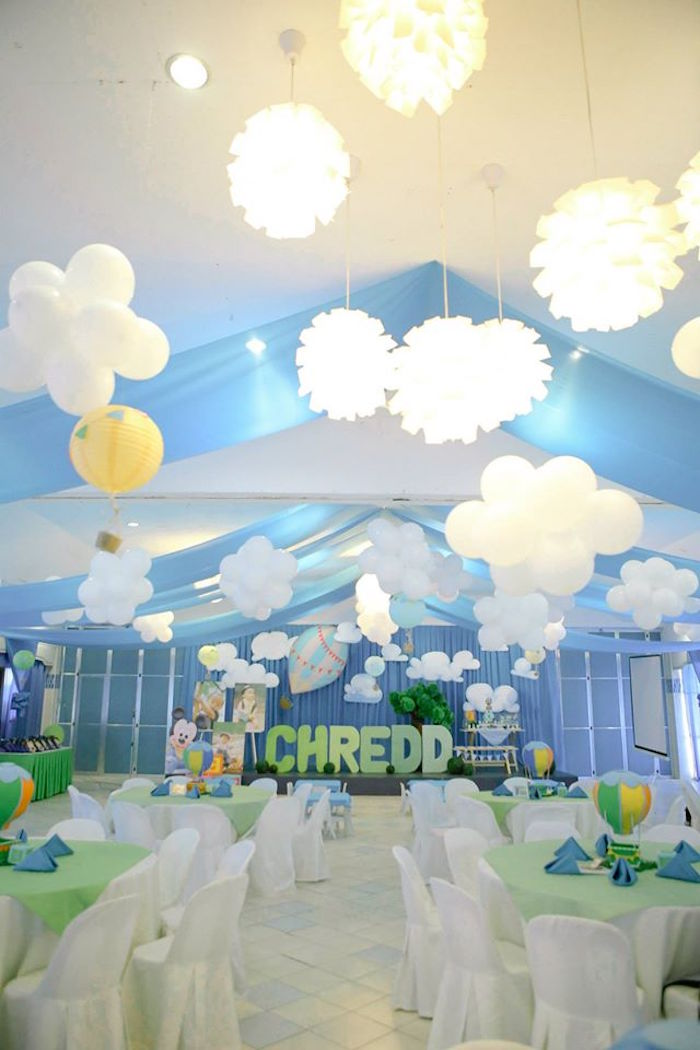 Partyscape from a Mickey Mouse Hot Air Balloon Birthday Party via Kara's Party Ideas KarasPartyIdeas.com (30)