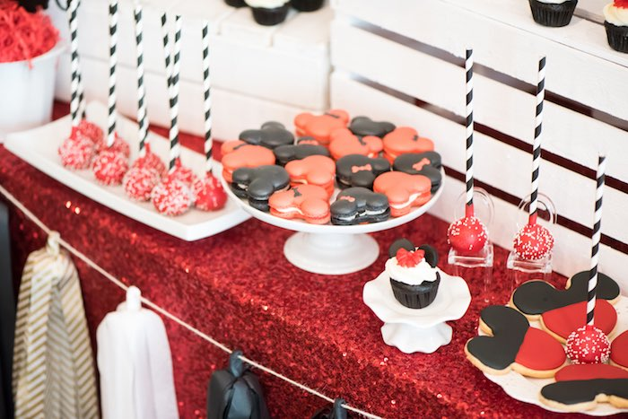 Desserts from a Minnie Mouse Birthday Party via Kara's Party Ideas | KarasPartyIdeas.com (14)