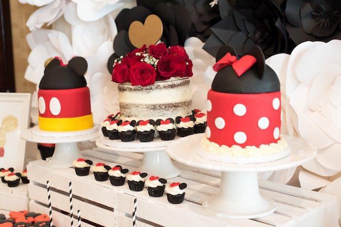 Cakes from a Minnie Mouse Birthday Party via Kara's Party Ideas | KarasPartyIdeas.com (11)