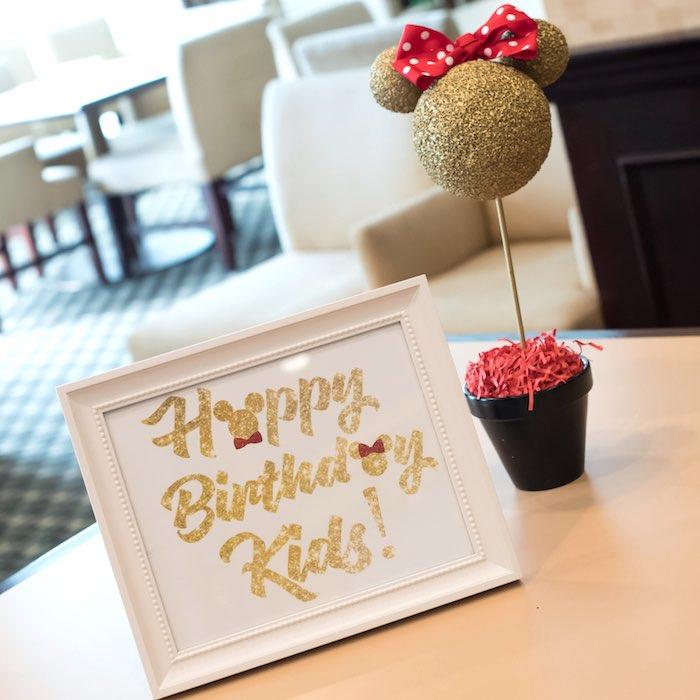 Table decor from a Minnie Mouse Birthday Party via Kara's Party Ideas | KarasPartyIdeas.com (7)