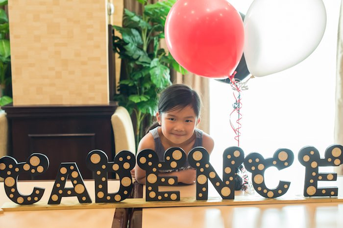 Letter Name Banner from a Minnie Mouse Birthday Party via Kara's Party Ideas | KarasPartyIdeas.com (4)