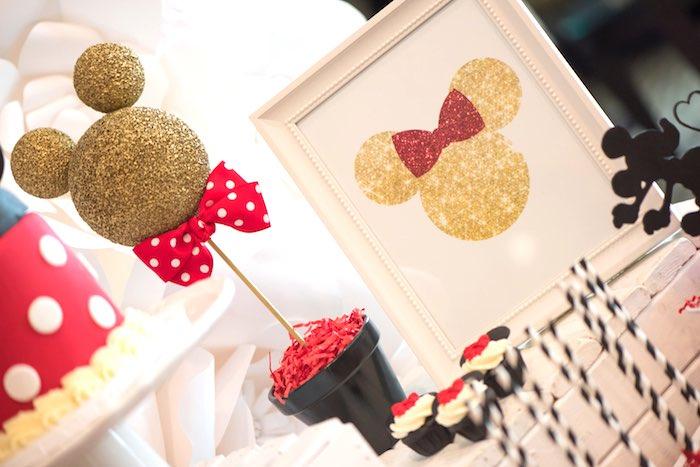 Mickey & Minnie decor from a Minnie Mouse Birthday Party via Kara's Party Ideas | KarasPartyIdeas.com (19)
