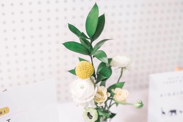 Flowers from a Modern Animal Birthday Party via Kara's Party Ideas | KarasPartyIdeas.com (19)