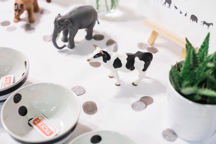 Plastic animals from a Modern Animal Birthday Party via Kara's Party Ideas | KarasPartyIdeas.com (18)