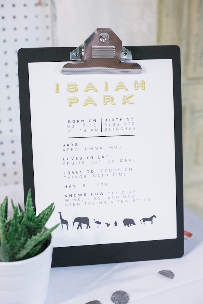 Invitation from a Modern Animal Birthday Party via Kara's Party Ideas | KarasPartyIdeas.com (16)