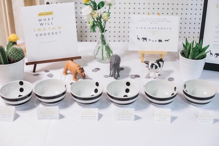 Korean dol guessing game from a Modern Animal Birthday Party via Kara's Party Ideas | KarasPartyIdeas.com (14)