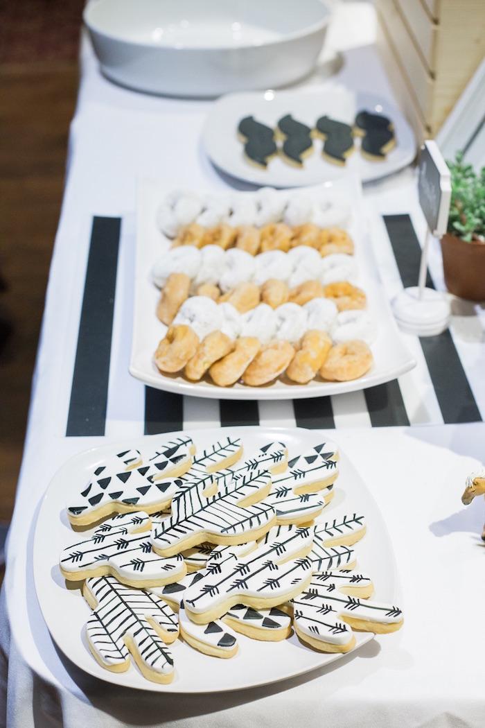 Modern cactus cookies from a Modern Animal Birthday Party via Kara's Party Ideas | KarasPartyIdeas.com (5)