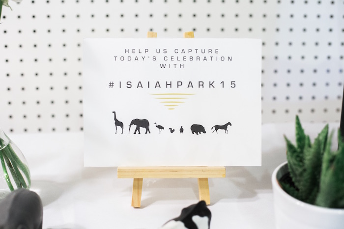 Party signage from a Modern Animal Birthday Party via Kara's Party Ideas | KarasPartyIdeas.com (25)