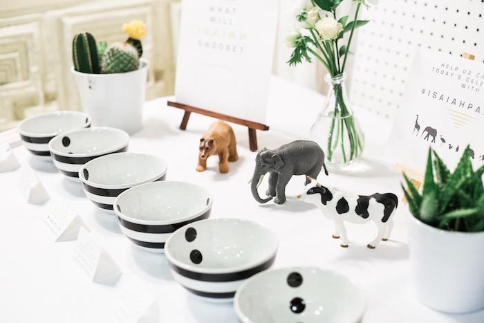 Table decor from a Modern Animal Birthday Party via Kara's Party Ideas | KarasPartyIdeas.com (23)
