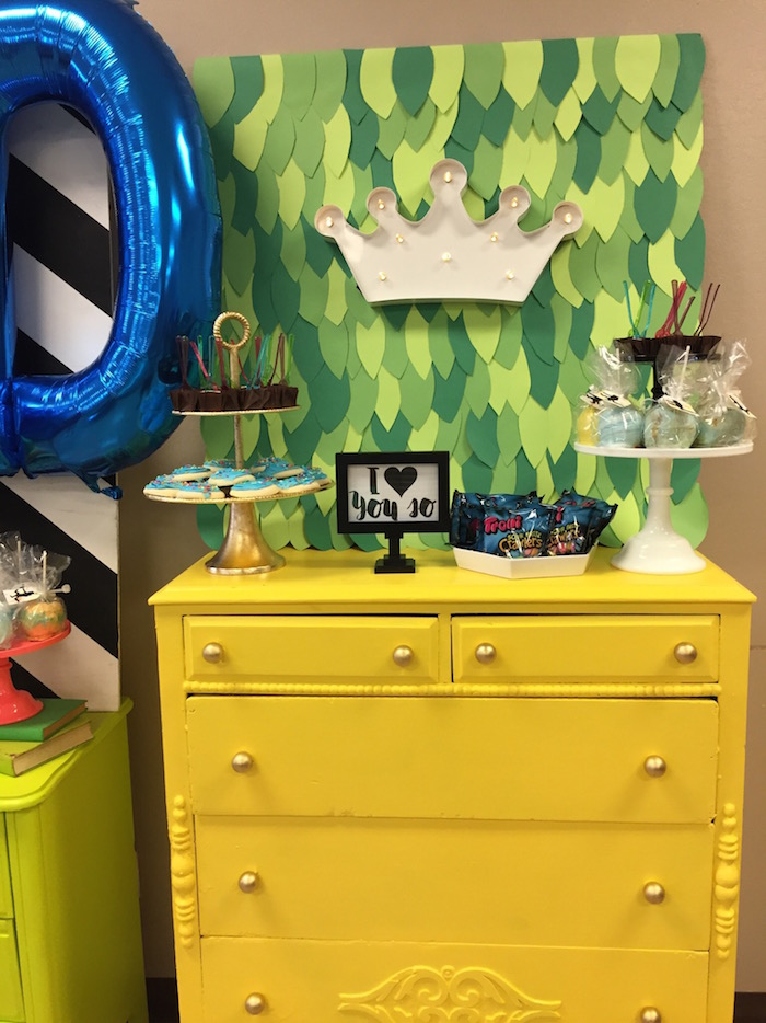 "Sweet table from a Modern Colorful ""Where the Wild Things Are"" Birthday Party via Kara's Party Ideas 