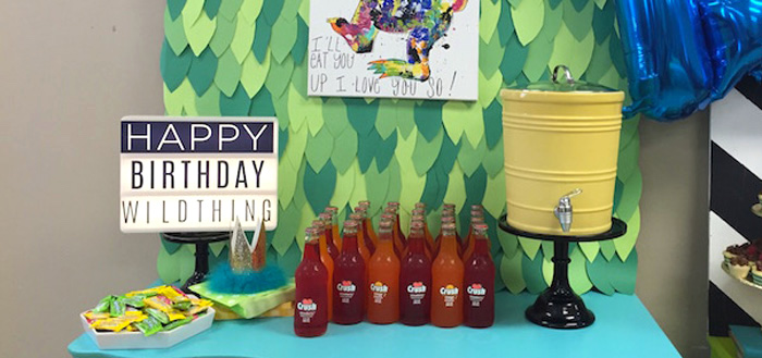 "Modern Colorful ""Where the Wild Things Are"" Birthday Party via Kara's Party Ideas 