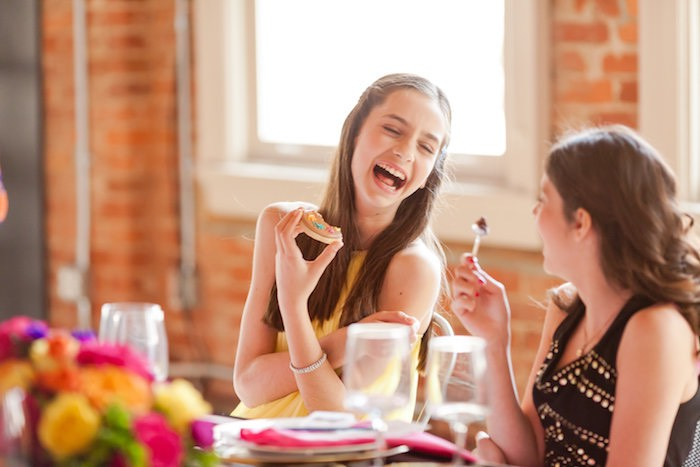 Modern Floral + Art Tween Birthday Party | Bat Mitzvah via Kara's Party Ideas KarasPartyIdeas.com (4)