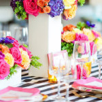 Modern Floral + Art Tween Birthday Party | Bat Mitzvah via Kara's Party Ideas KarasPartyIdeas.com (2)
