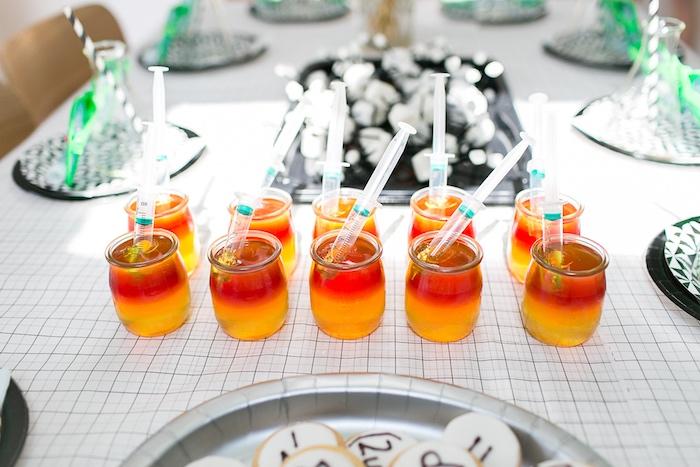 Kara S Party Ideas Modern Science Themed Birthday Party
