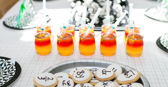 Modern Science Themed Birthday Party via Kara's Party Ideas KarasPartyIdeas.com (1)
