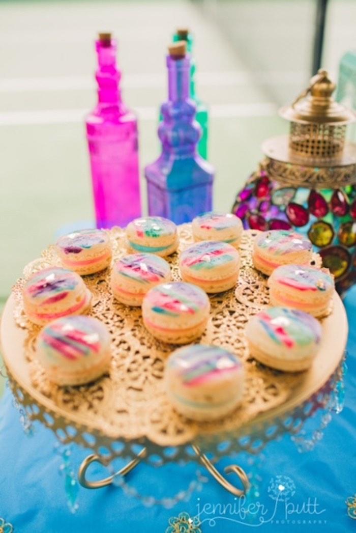 Macarons from a Moroccan Genie Party via Kara's Party Ideas | KarasPartyIdeas.com (44)