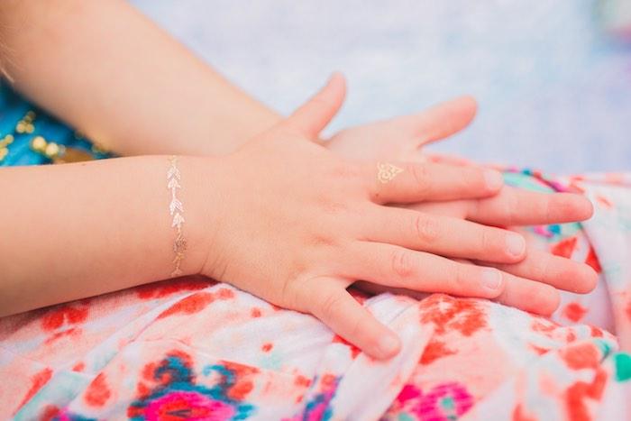 Henna adorned hands from a Moroccan Genie Party via Kara's Party Ideas | KarasPartyIdeas.com (24)