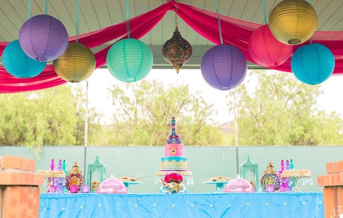 Beautiful dessert tablescape from a Moroccan Genie Party via Kara's Party Ideas | KarasPartyIdeas.com (23)