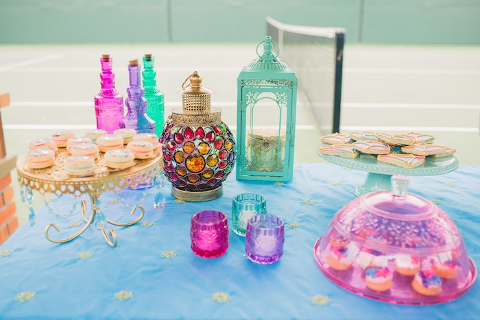 Moroccan Dinner Party Ideas Part - 19: Sweets U0026 Decor From A Moroccan Genie Party Via Karau0027s Party Ideas |  KarasPartyIdeas.com