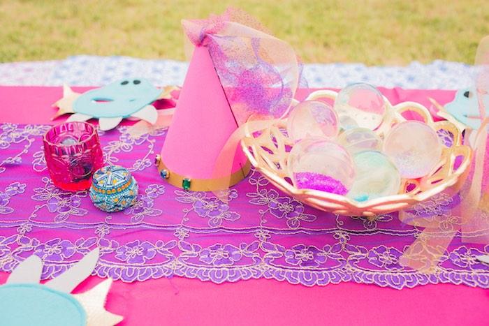 Party hat + table decor from a Moroccan Genie Party via Kara's Party Ideas | KarasPartyIdeas.com (13)