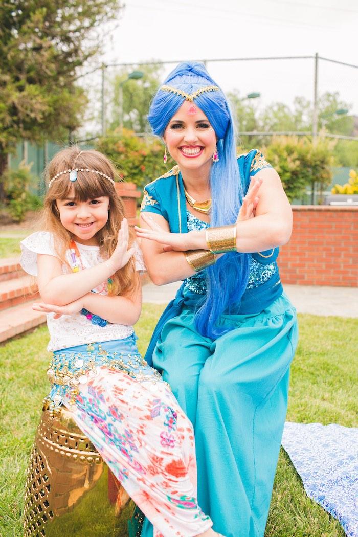 Birthday girl & Genie from a Moroccan Genie Party via Kara's Party Ideas | KarasPartyIdeas.com (6)