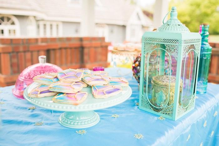 Dessert table detail from a Moroccan Genie Party via Kara's Party Ideas | KarasPartyIdeas.com (42)