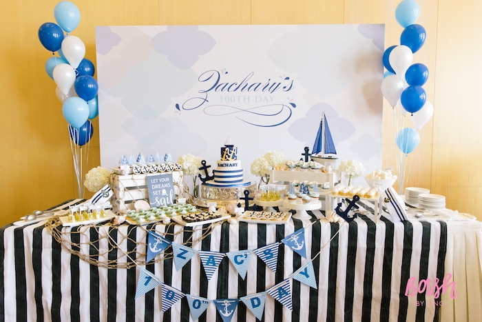 Kara S Party Ideas Nautical Themed 100th Day Party Kara