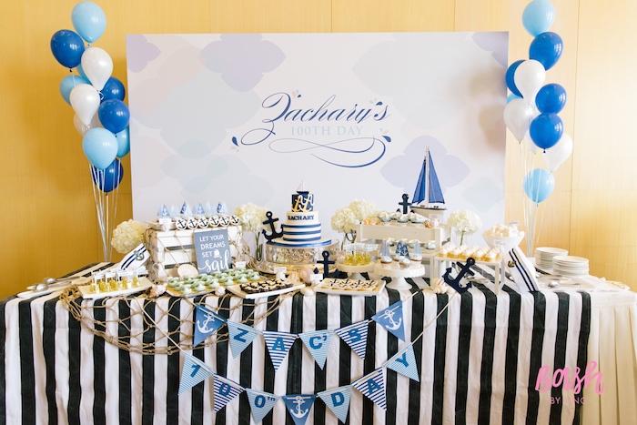 Kara S Party Ideas Nautical Themed 100th Day Party Kara
